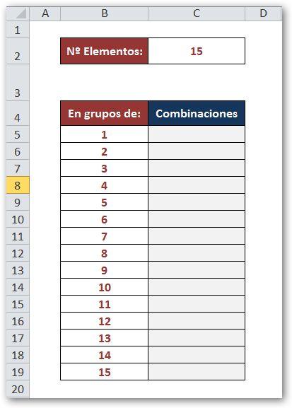 La Rebotica de Excel: Cálculo de Combinaciones