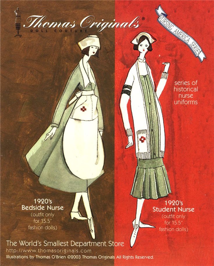 An advertisement for replica nursing uniforms from the 1920s for dolls, 2003. Pictures of Nursing: The Zwerdling Postcard Collection. National Library of Medicine