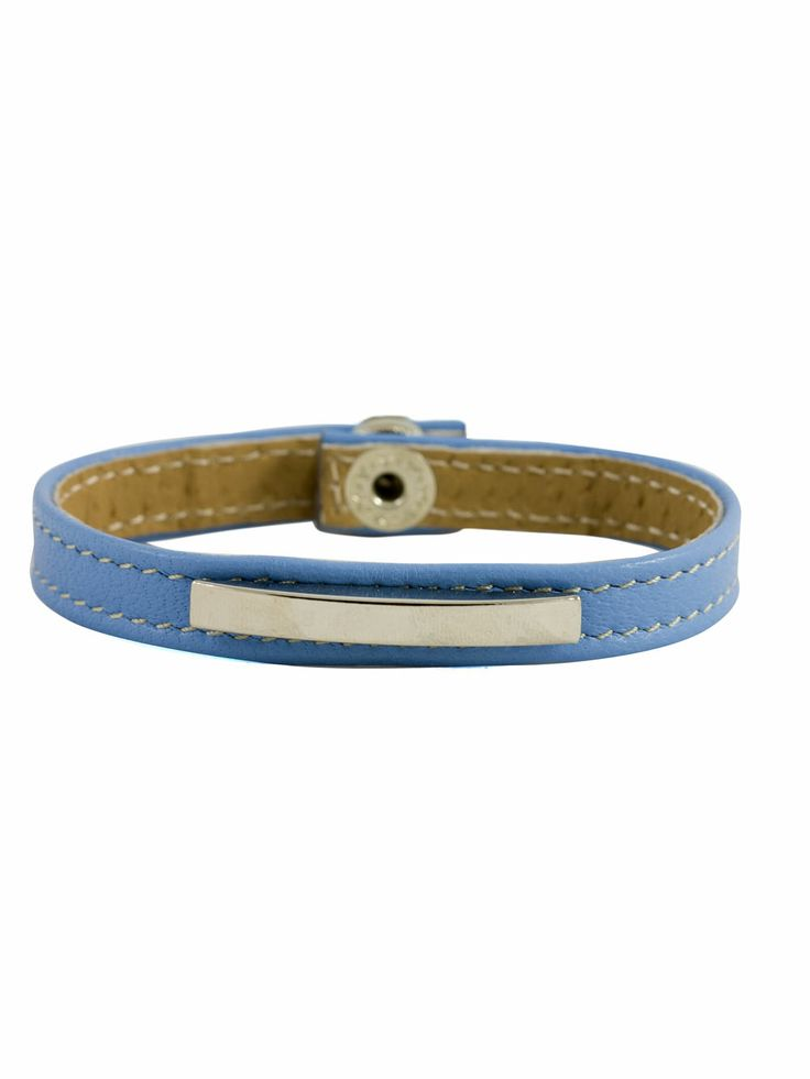 blue leather bracelet #handmade #spring2014 #accessorize
