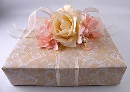 Learn how to create this Vintage Wedding Gift Wrap look.