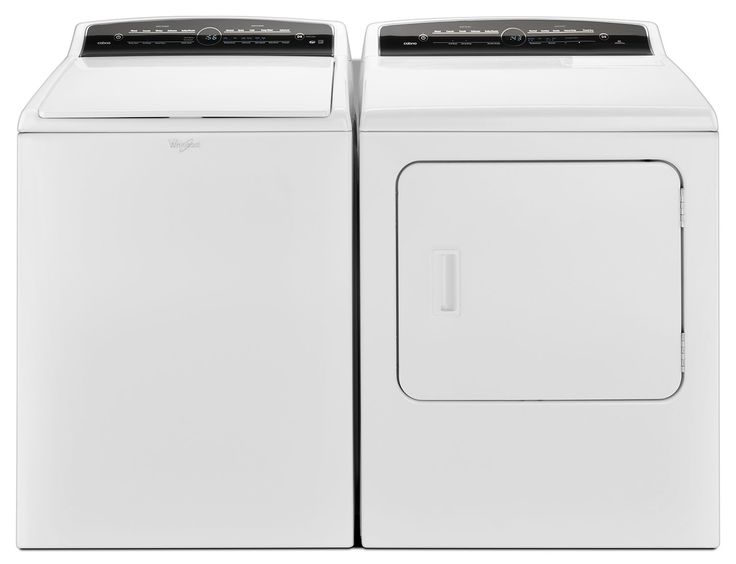 Washers and Dryers - Whirlpool® Cabrio® 5.5 Cu. Ft. Top-Load Washer and 7.0 Cu. Ft. Electric Dryer - White $1498