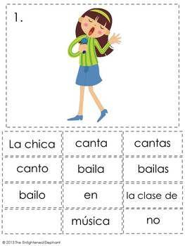 PRESENT TENSE -AR VERBS SPANISH SENTENCE WRITING STATION ACTIVITIES - TeachersPayTeachers.com