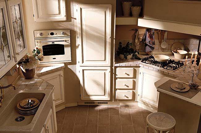 Foto di una cucina in finto muro Zappalorto