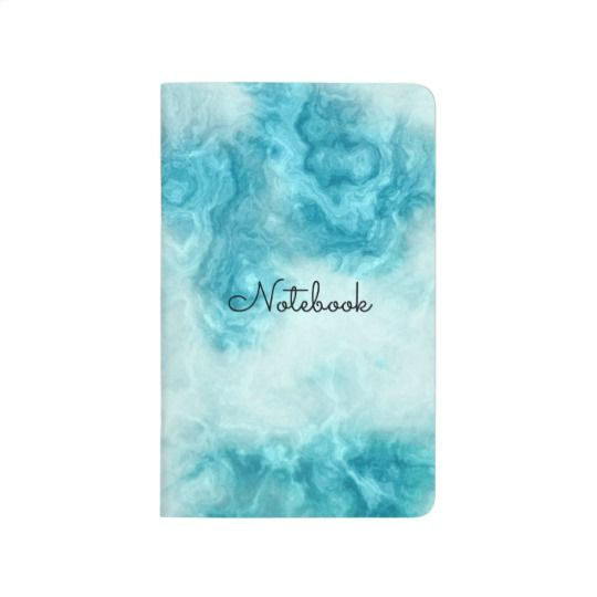 """Beautiful blue Marble texture and pattern personalize Journal, available on zazzle.com for ($10.10), Printed in full color on 100% acid-free recycled paper, Select from blank, lined, grid, or checklist style page inserts for use in recipe keeping, note taking, or sketching!   Specifications -  - Dimensions: 5.5"""" l x 3.5"""" w;    thickness: 0.125"""" lb - Sturdy cardboard exterior and     interior covers - 48 pages - Choice of 4 formats for interior    pages - blank, lined, grid, or    checklist"""