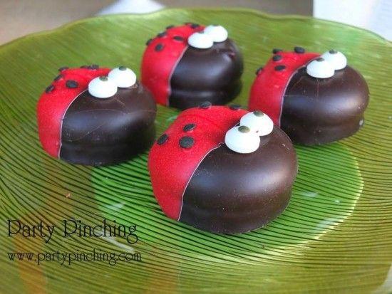 ladybug marshmallows