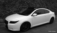 White+ Black= LOVE 2006 Scion tC (Exactly how i want it :D )