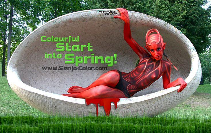 Zeit für frische Ideen #bodypaint #frühling #senjocolor