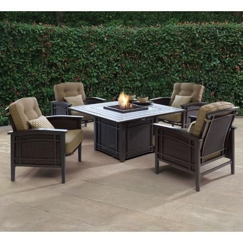 Armidale Fire Pit Conversation Set   Conversation Patio Sets At Hayneedle