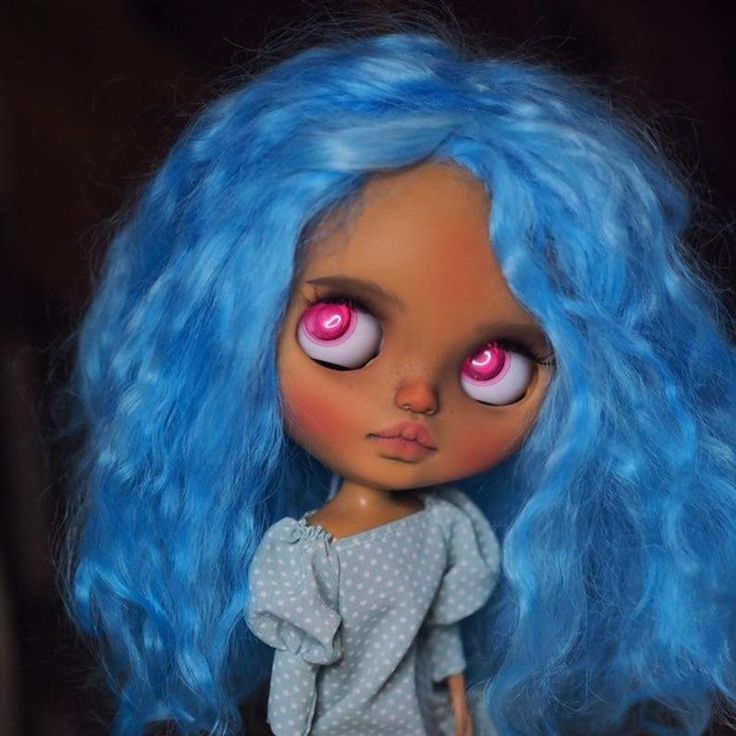 Amina • Ooak custom Blythe doll with mohair weft hair or synthetic to choose