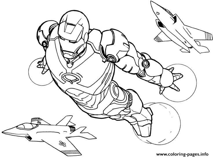 print iron man flying s6c1b coloring pages superhero coloring pageskids - Superheroes Coloring Pages For Kids