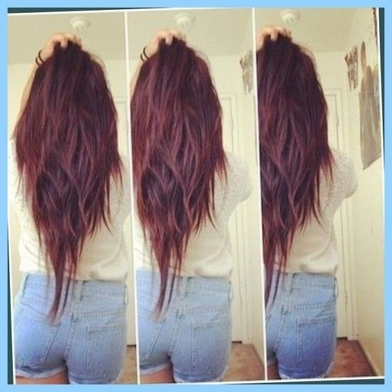 V Shaped Layers | Hair Color Me Happy | Pinterest | V Shaped For in long v layered haircut Intended for Your hair