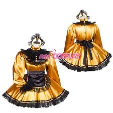 lockable Sissy maid  dress satin Unisex Cosplay Tailor-made[G3805]
