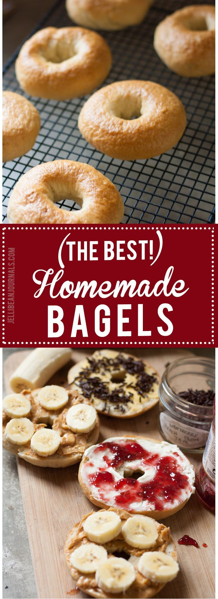 Easy homemade bagel recipe. Make these for breakfast tomorrow! | http://Jellibeanjournals.com