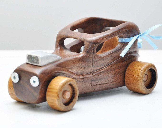 Coche de madera, coche personalizado, juguete de madera, de Hot Rod, juguete para niño, coche, regalo para chicos