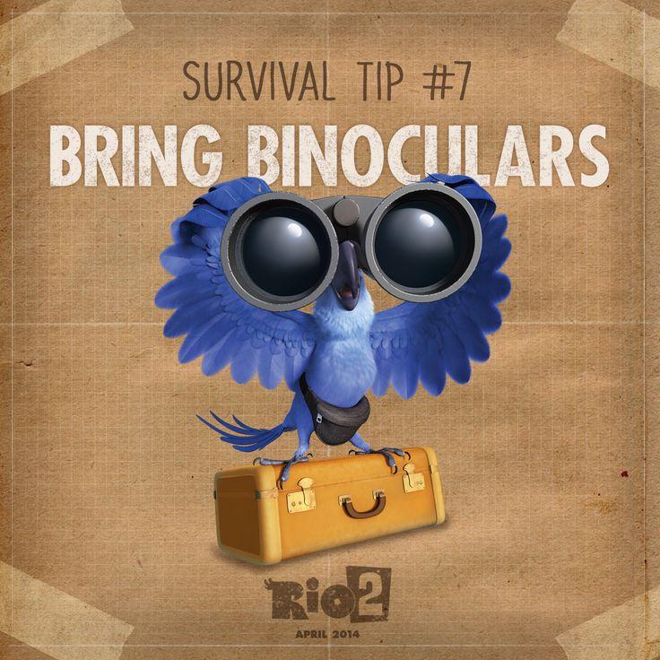 Bring binoculars to get a bird's eye view! #WesternUnion #Rio2 www.riomovies.com/