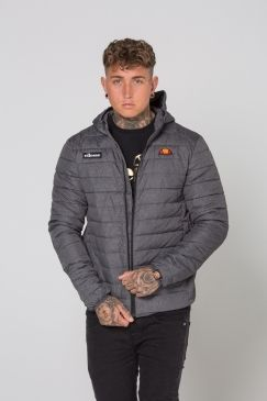 Ellesse - Lombardy Padded Jacket - Grey Grindle