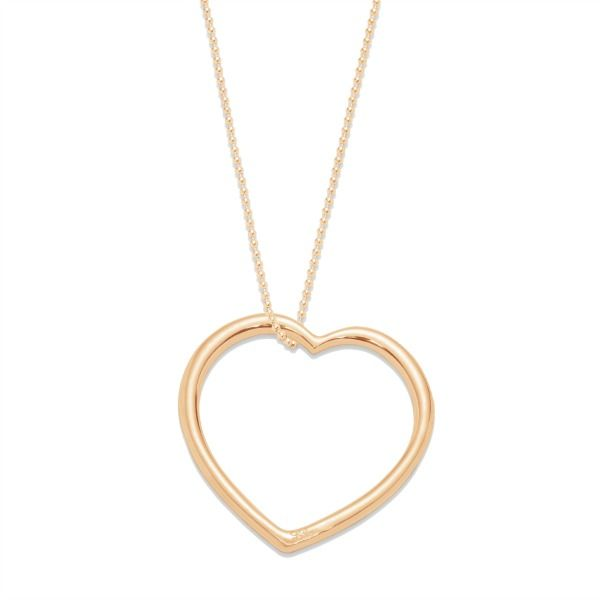 Thanks to the XXL heart by Lilou, express your feelings with a chic and minimalist necklace! #lilou #heart #feelings #xxl #chic #minimalist #necklace