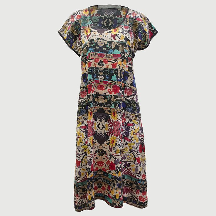 Silk Print Dress New Frond