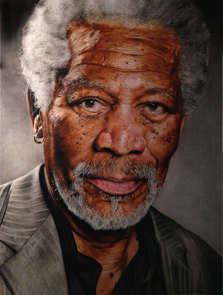 Best PENCIL INK AND CHARCOAL ART Images On Pinterest - Artist uses pencils to create striking hyper realistic portraits