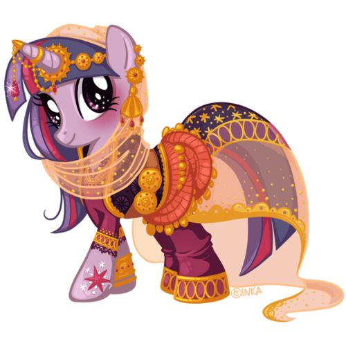 Twilight Sparkle all up and dressed fancy