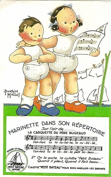 Vintage advert by Beatrice Mallet for Petit Bateau