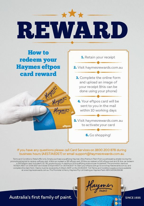 Claim your Eftpos Card