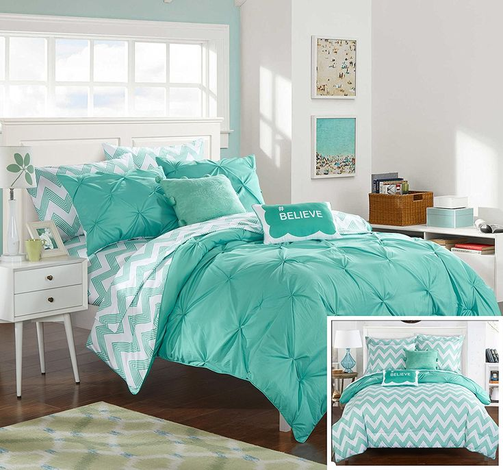 Best 25 Aqua Comforter Ideas On Pinterest Aqua Bedding