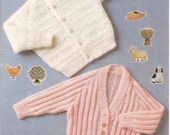 Baby knitting patterns.Knitted baby cardiganpattern by AnaSwet