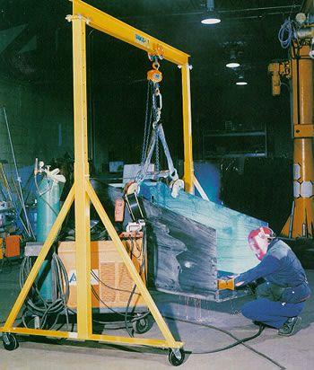 steel adjustable hieght gantry crane