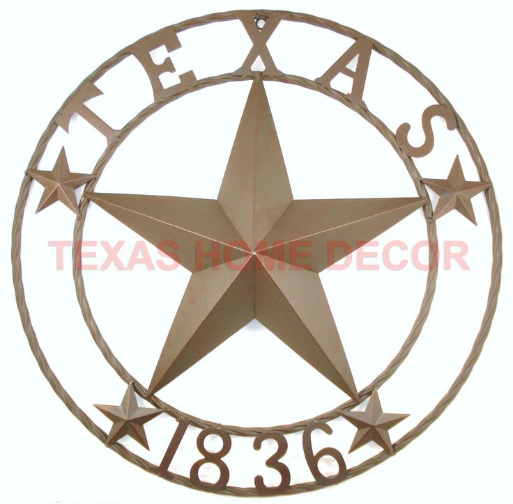Details About 24 Texas 1836 Metal Barn Star Circle Rope