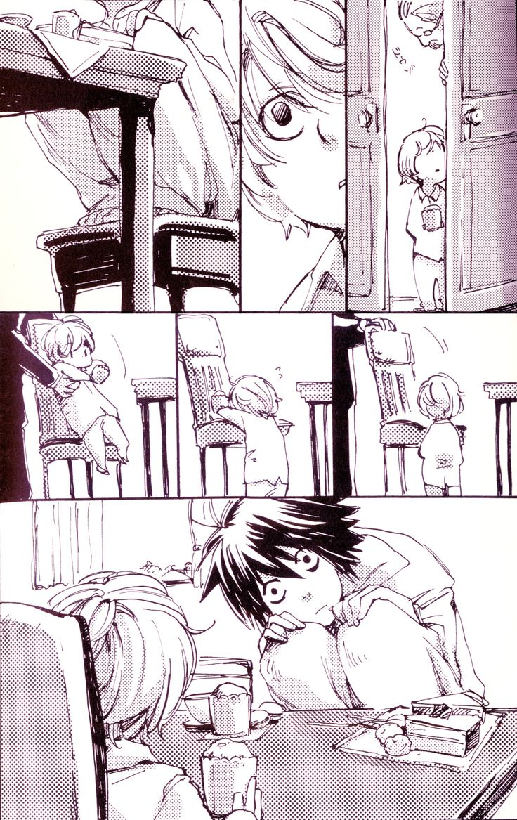[Near meets L. The poor Near. He must think L is a Psycho. #DeathNote] That's actually kind of cute haha                                                                                                                                                                                 More