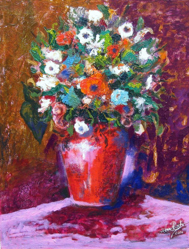 Vaso rosso 50x70