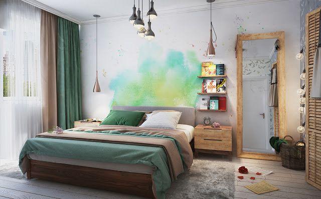 A cor nesse quarto é bem diferente. Legal, né? #quartodecasal Blog Achados de Decoração