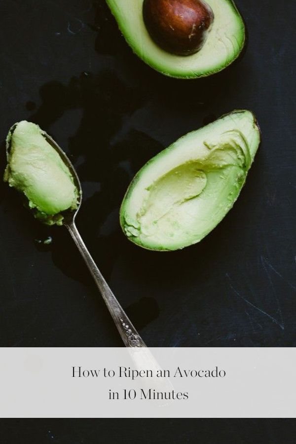How to Ripen an Avocado in 10 Minutes via @PureWow