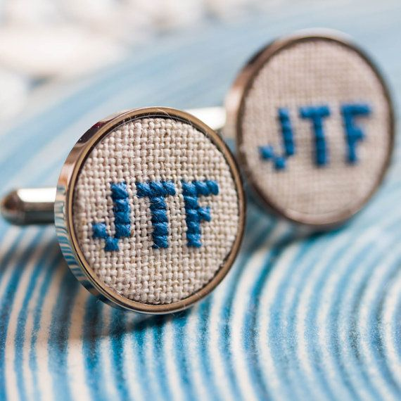 These cufflinks are such a nice gift to give your groomsmen, or your dad or even to your groom. Love love love these!! monogram cufflinks, personalized cufflinks for groom, groomsmen, custom wedding cufflinks