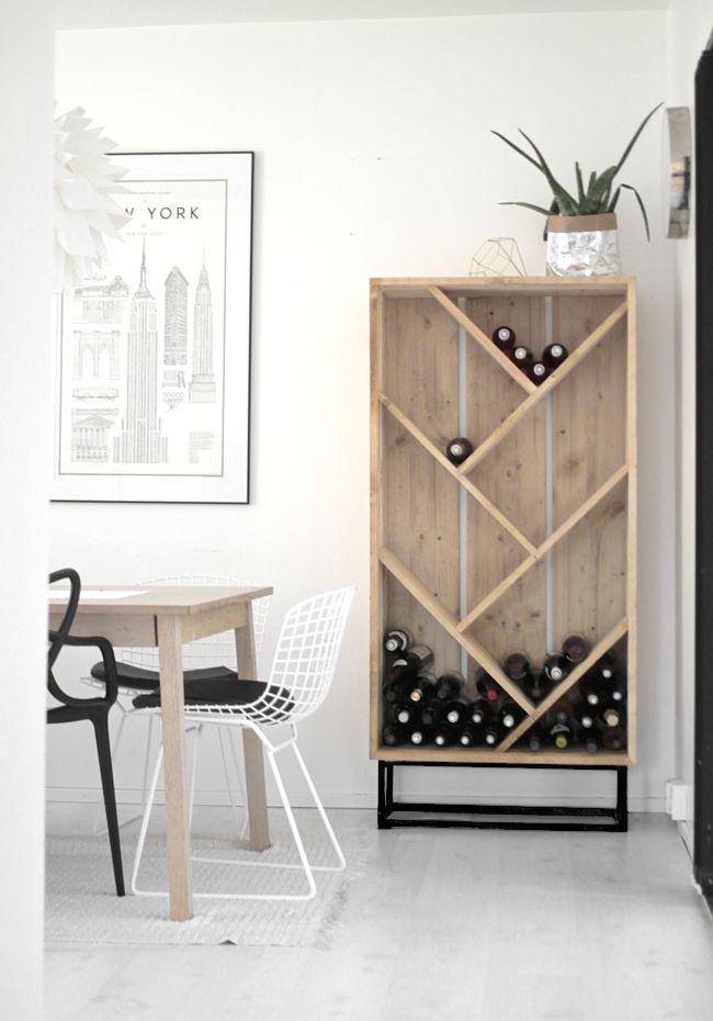 diy wine cabinet | vastarintama