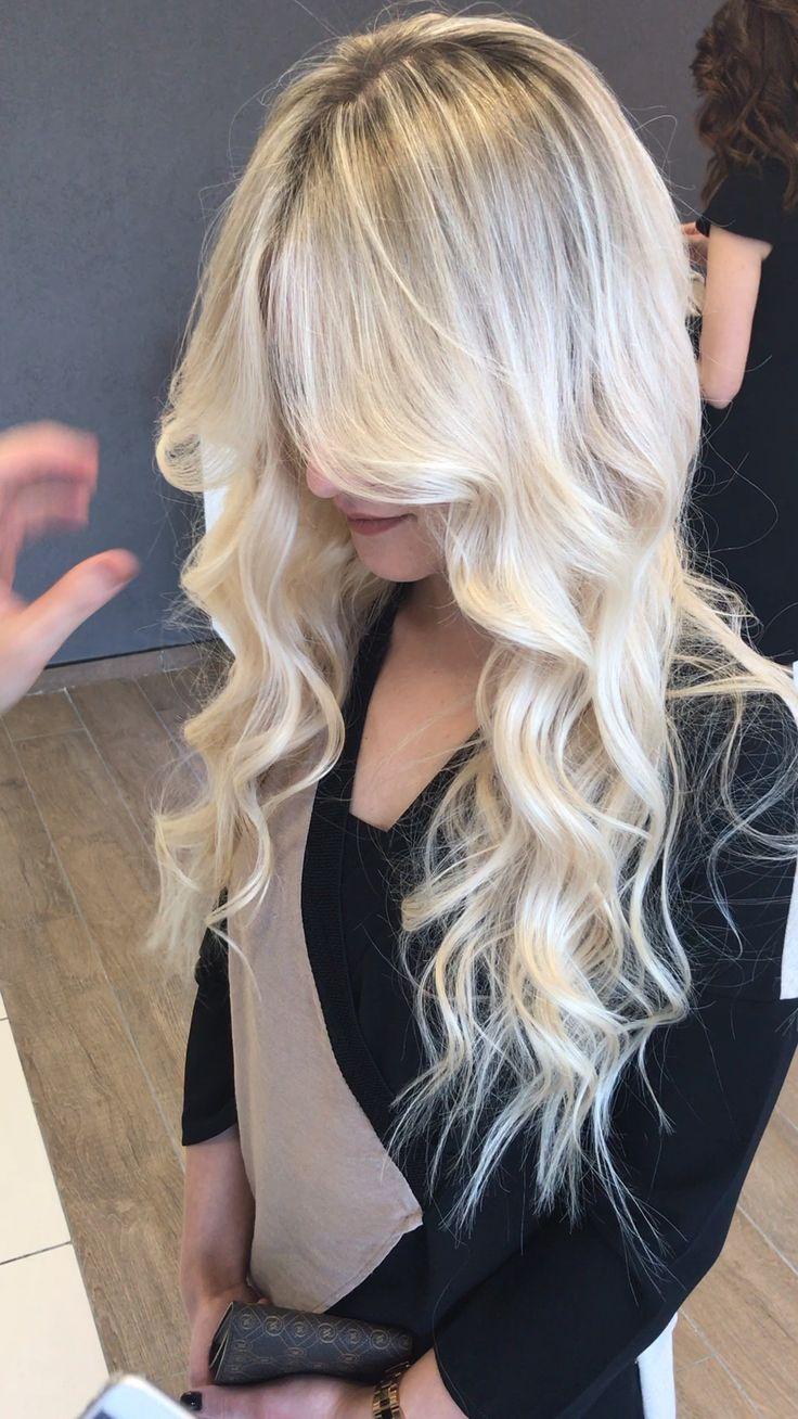 hair blonde balyaj haircolor makeup woman fashion