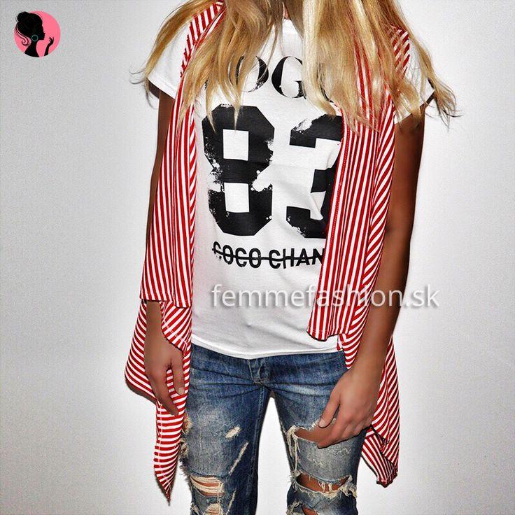 Tričko značky STYLE&DIRT - Vogue 83 Coco Chanel http://femmefashion.sk/styledirt/2699-tricko-vogue-83-coco-chanel.html