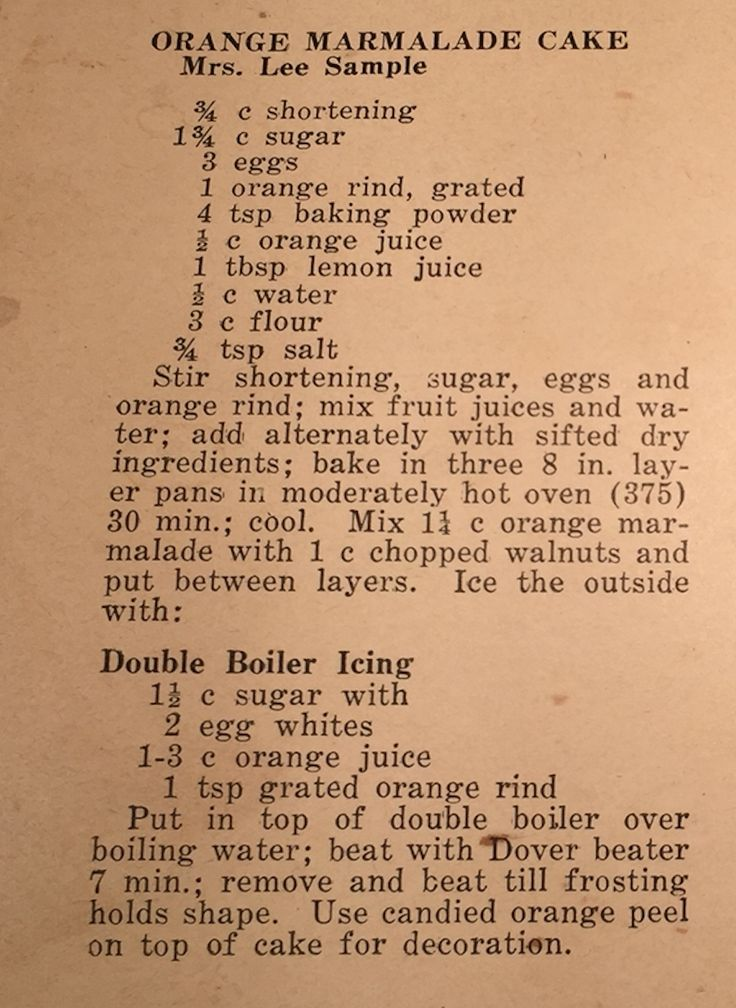 Old Cake Recipe from a Ladies VFW Ax Cookbook 1940's