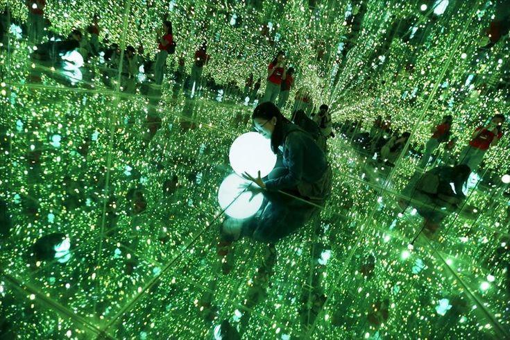 Οπτικές ψευδαισθήσεις . Αίθουσα οπτικών ψευδαισθήσεων στην έκθεση «Imagine Your Museum of Art» που πραγματοποιείται στο Πεκίνο.