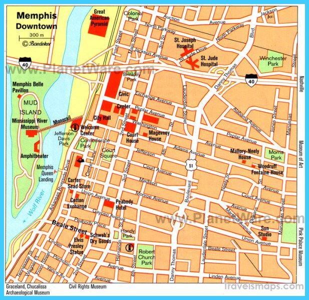 cool Map of Memphis Tennessee