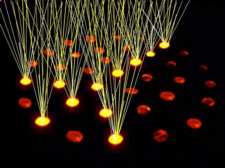 Eminating light beams
