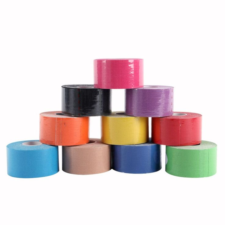 Muscle Tape 5M Sports Tape Kinesiology Tape Cotton Elastic Adhesive Muscle Bandage Care Physio Strain Injury Support 10 Colors  * Click the VISIT button to find out more