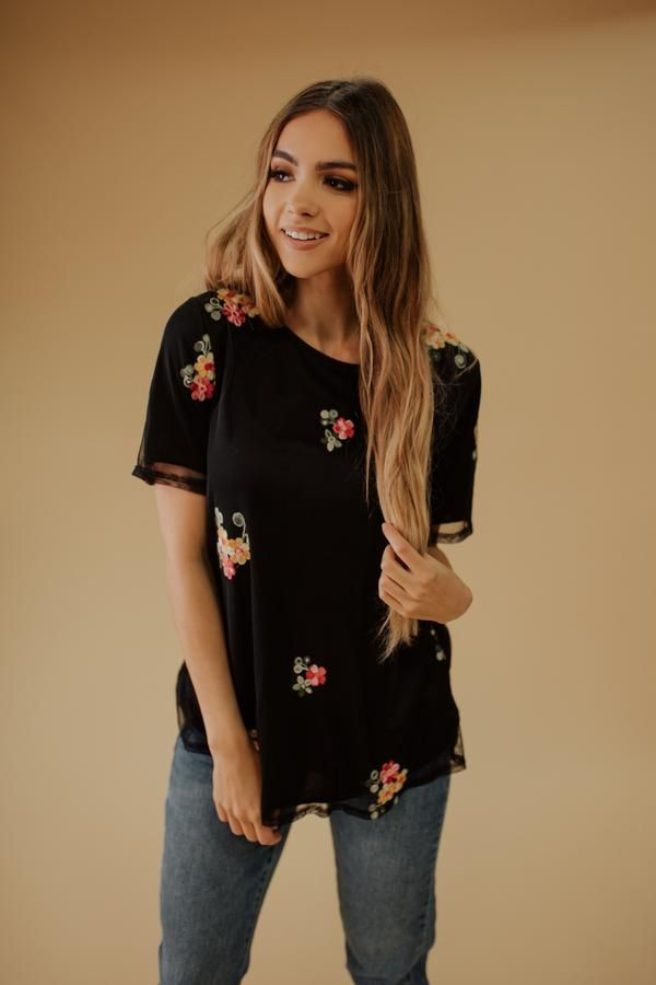 0acb9d4f84a6 Lynne floral top in black in 2019 | Citrus & Lemon | Our Clothing ...