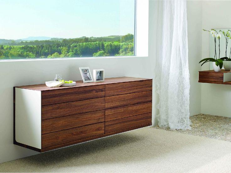 Riletto - komoda dřevo a kůže / chest of drawers
