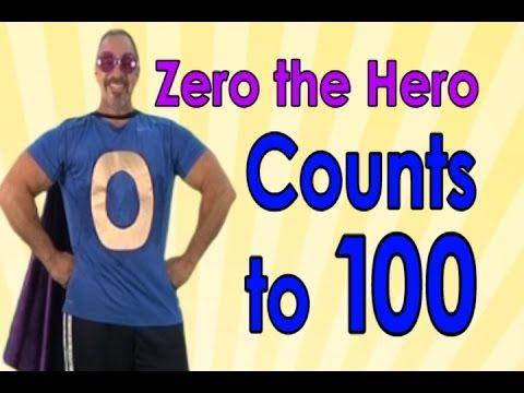 Zero The Hero | Count to 100 | 100 Days of School | Jack Hartmann - YouTube