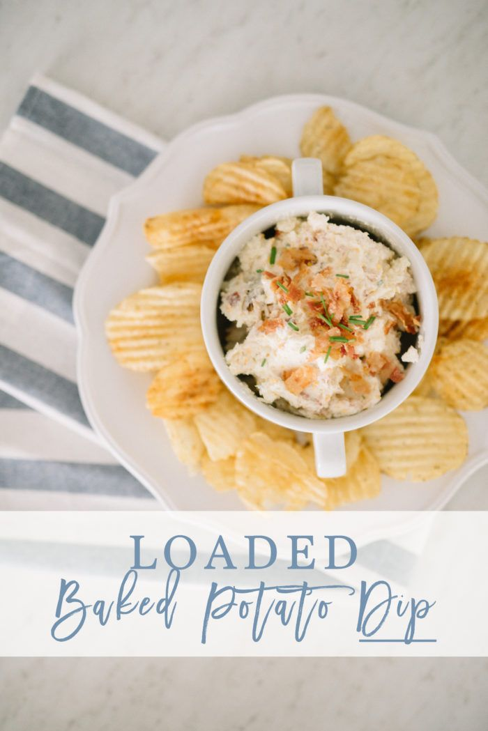 Easy Loaded Baked Potato Dip Recipe