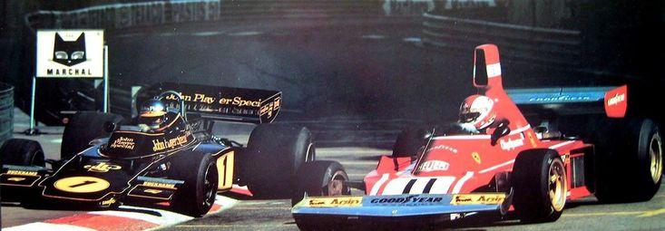 "Bengt Ronnie Peterson (SWE) (John Player Team Lotus), Lotus 72E - Ford-Cosworth DFV 3.0 V8 (finished 1st) Gianclaudio Giuseppe ""Clay"" Regazzoni (SUI) (Scuderia Ferrari SpA SEFAC), Ferrari 312B3"
