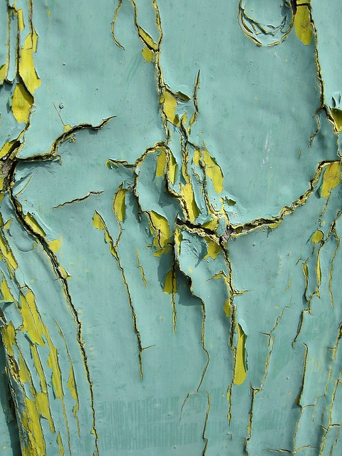Peeling paint by patchworkgandalf, via Flickr