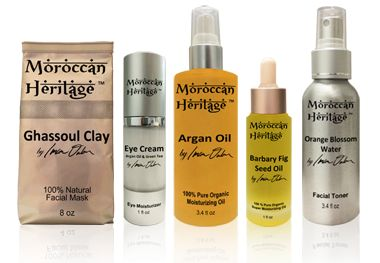 Essential Oils from Morocco. Moroccan Heritage™ is a collection of skin care and hair care natural products featuring the highest levels of corrective ingredients available (Vitamin E, Antioxidants and essential fatty acids) obtained through traditional extraction methods practiced in Morocco for centuries.